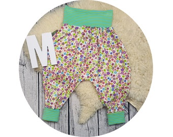 Baby, trousers, Jerseyhose, wax trousers, Pumphose, harem trousers, baby pants, flower flowers, Prilblumen