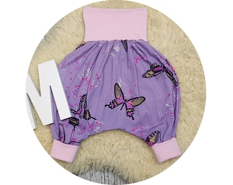 Jerseyhose, wax trousers, Pumphose, harem trousers, baby pants, baby, trousers, butterfly