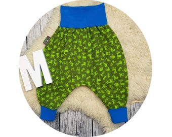 Harem trousers, baby pants, baby, trousers, Jerseyhose, wax trousers, Pumphose, Püreh, roe Deer, fox, hedgehog, forest