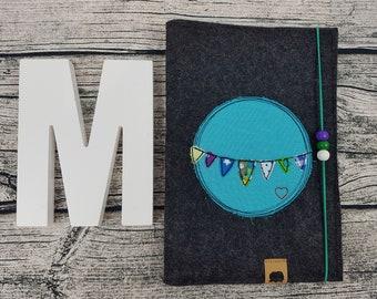 UHefthülle U-Staple Pennant Necklace Party flag personalized embroidered u booklet Baby Child examination Notebook felt Uheft sleeve U heftHülle