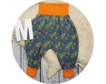 Wax trousers, Pumphose, harem trousers, baby pants, baby, trousers, Jerseyhose, rockets, space, rocket