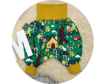 Wax trousers, Pumphose, harem trousers, baby pants, baby, trousers, Jerseyhose, fairytale, witch, forest, gingerbread