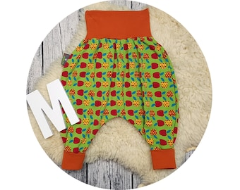 Baby pants, baby, trousers, Jerseyhose, wax trousers, Pumphose, harem trousers, apples, apple, retro