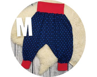 Baby pants, baby, trousers, Jerseyhose, wax trousers, Pumphose, harem trousers, points, maritim, dab, marine