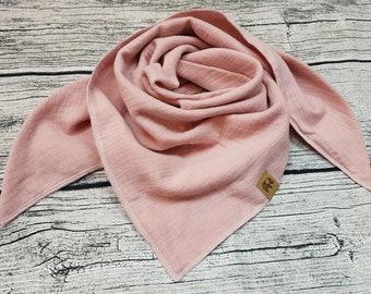 Pink old rose zuckerwattenrosé triangular scarf muslin scarf burb scarf muslin cloth baby bandana children's scarf hipster Hipstertuch