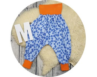 Harem trousers, baby pants, baby, trousers, Jerseyhose, wax trousers, Pumphose, bubbles, dots