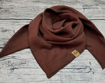Chocolate brown brown scarf burb scarf muslin muslin cloth baby scarf kid Scarf Hipster Birthday Gift