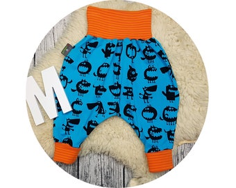 Jerseyhose, wax trousers, Pumphose, harem trousers, baby pants, baby, trousers, monster, scary, Halloween