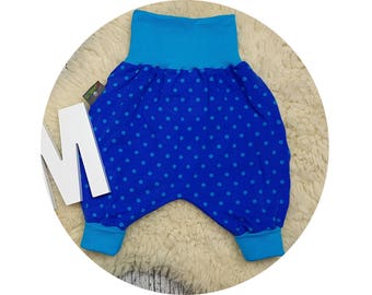 Baby pants, baby, trousers, Jerseyhose, wax trousers, Pumphose, harem trousers, dots, dab