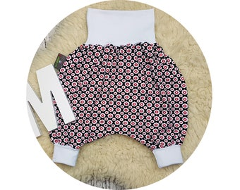 Wax trousers, Pumphose, harem trousers, baby pants, baby, trousers, Jerseyhose, flowers, flower, hipster, retro