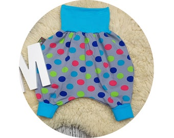 Wax trousers, Pumphose, harem trousers, baby pants, baby, trousers, Jerseyhose, dots, dab
