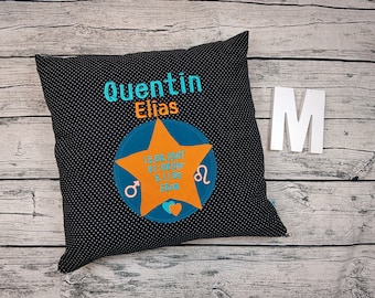 Baby Child birth cushion gift girl Holiday pillow star stare young birthday 50x50