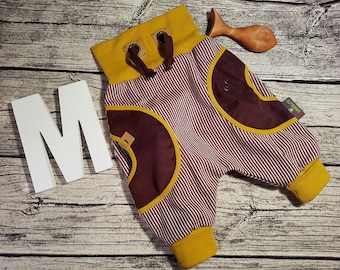 Corduroys Boys trousers cord kids trousers pants baby boy girl Pumphose retro mustard brown stripes Nursery