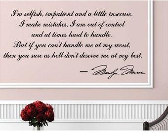 Marilyn Monroe Im Good But Not An Angel Inspirational Motivational Women Girl Vinyl Decor Art Quote Decal Wall Decoration Sticker J72