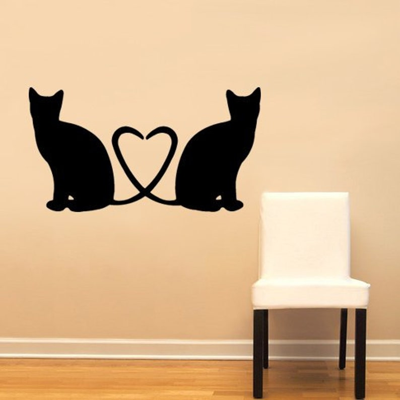 Cat Tail Heart Shape by WallPressions