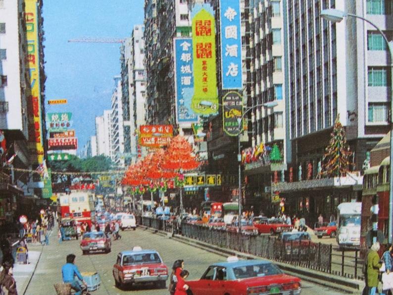 Hong Kong China Vintage Postcard 1960/'s The Imperial Hotel Tsim Sha Tsui Kowloon Color Glossy City Street Scene Double Decker Bus
