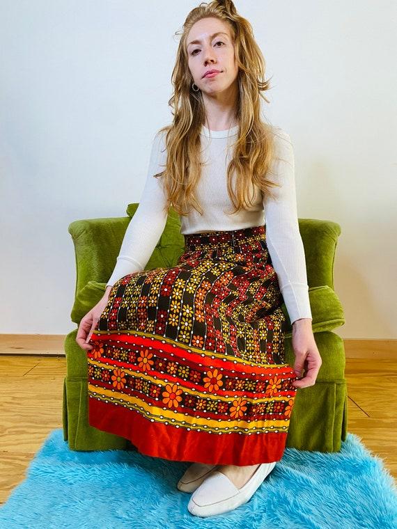 1970s daisy skirt