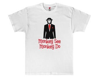 Monkey See Monkey Do - The Power Elite Suit Shirt  - Economics Philosophy Political Satire -  Illuminati New World Order Parody