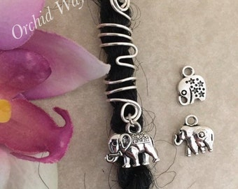 2pcs Dreadlocks Synthetiques Elephant Charm Dread Beads for Synthetic Dreads Dreadlocks Hair Jewelry Making