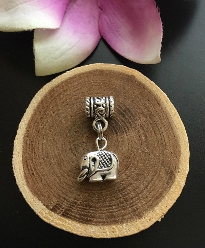 Silver Elephant Loc  Cuff Hair Jewelry Dreads Braids Boho Euro Bracelet Charm Silver Elephant Africa Dreadlock Jewelry