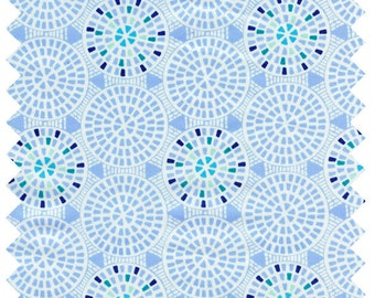 HALF YARD Art Gallery Drift Gemmed Pathways Cotton Fabric DFT-5307 Light Blue