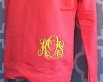 Monogrammed Sweatshirt-- Lots of Colors---PLUS SIZES