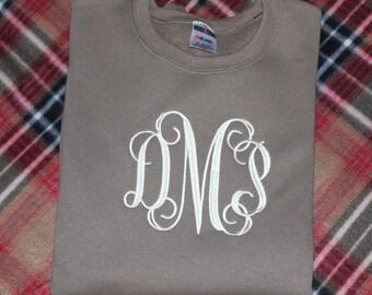 Monogrammed Sweatshirt in 2X-