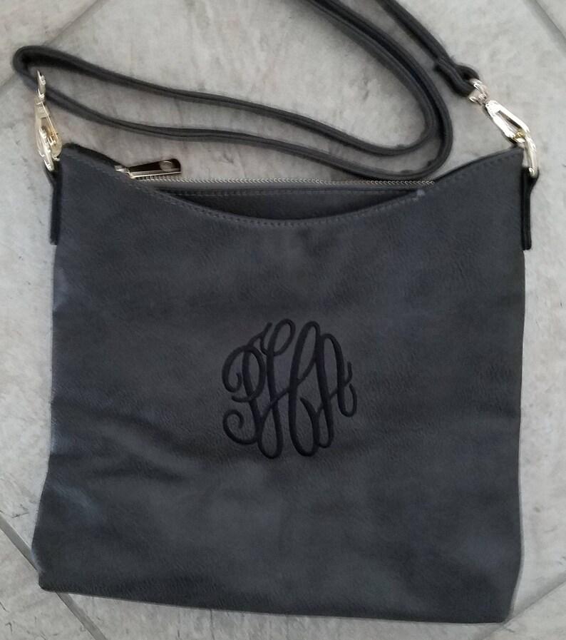 Monogrammed Crossbody BagAll Season Handbag Shoulder Bag image 1