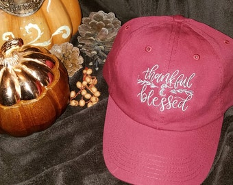 Thankful and Blessed Ball Cap.....