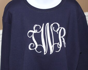 Monogrammed Sweatshirt Size Medium