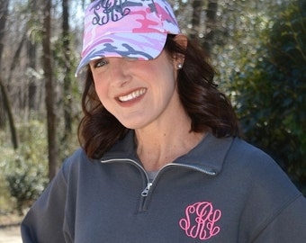 Monogrammed Baseball Cap-- Now in Pink CAMO
