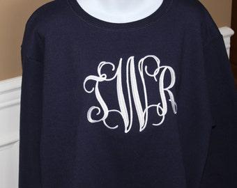 Monogrammed Sweatshirt Size Small