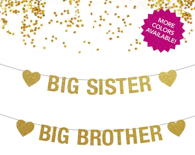 Big Sister Banner, Big Brother Banner, Sister or Brother, Big Sister Announcement, Big Brother Announcement, Big Sister Little Brother