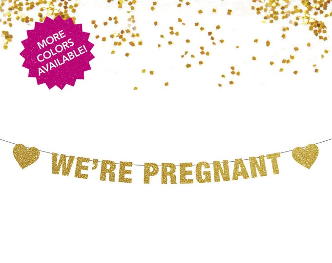 We're Pregnant Banner, Pregnancy Announcement, Pregnancy RevealPregnancy Sign, Pregnancy announcement to husband, We're Pregnant, Pregnancy