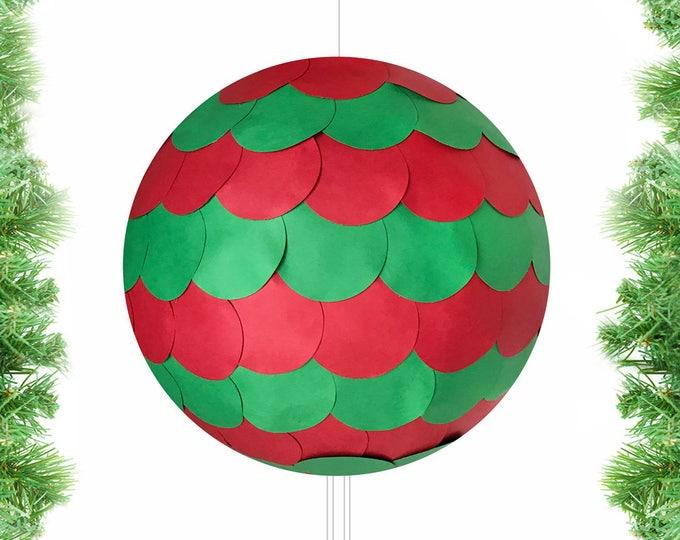 Christmas Piñatas, Christmas Gender Reveal Ideas, Gender Reveal Christmas Decoration, Holiday Pull String