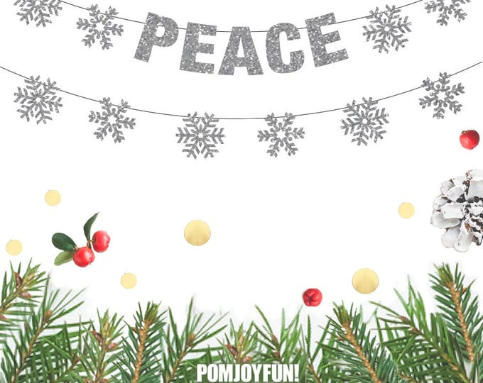 Peace Christmas Banner, Peace Banner, Christmas Decor, Christmas Banners, Holiday Decor, Peace on Earth