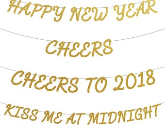 new years eve banners happy new year banner cheers banner cheers to 2018 kiss me at midnight banner new years eve party decor