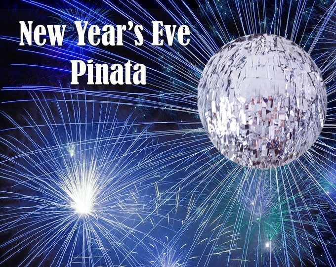 New Year's Eve Fringe Piñata, New Years Eve Piñata, New Years Eve Party, Custom Pinata, New Year's Ball Drop, Time Square, New Years Decor
