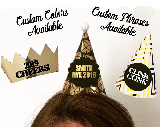 New Year's Eve hats 2019, Custom Party Hat, Funny Holiday Ideas, Christmas Company Party, Personalized Wedding Hat Winter Wedding