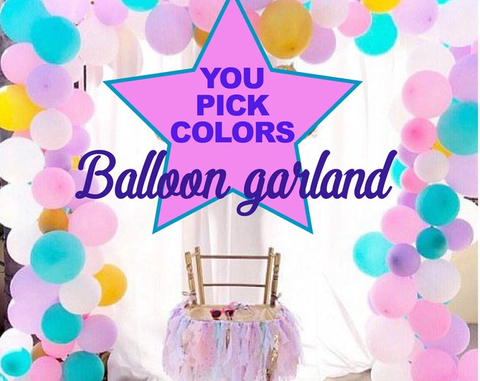 Custom Balloon Garland Kit, Balloon Garland Kit DIY, Balloon Table Runner, Light Pink, Rose Gold, White and Peach, CenterpieceCu