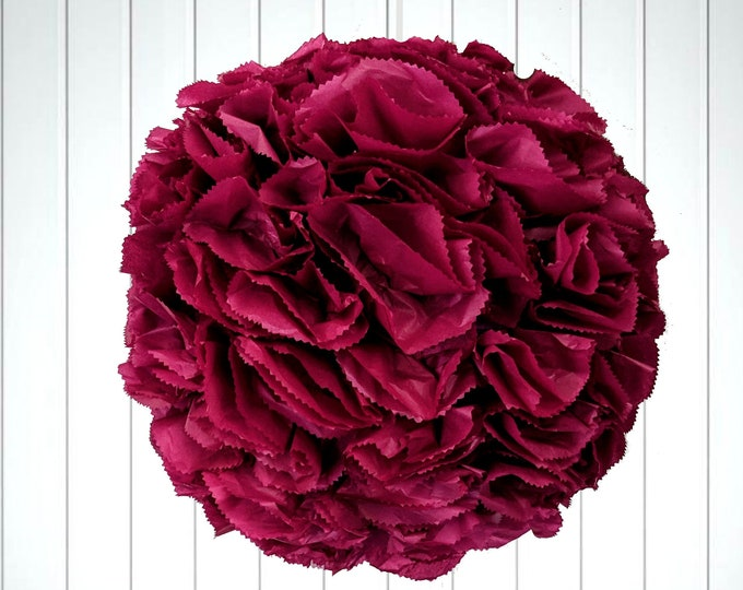 Burgundy Kissing Ball Piñata, Wedding Piñata, Navy Flower Ball, Pomander, Rose Gold Flower Ball, Custom Colors wedding box, pinata with slot