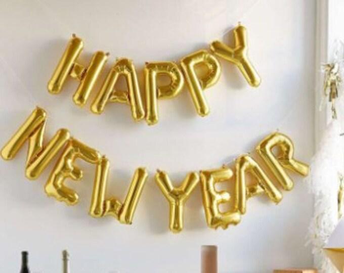 2019 Happy New Year Balloon, New Years Eve Decorations Banner Sign Party, New Years Eve banner, 2019 Balloons, Happy New Year Balloons