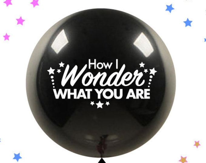 "Twinkle Twinkle Little Star How I Wonder What You Are Giant 36"" Gender Reveal Balloon with Tassel and Confetti pregnancy announcement Ideas"