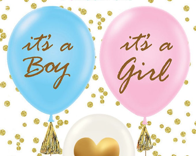 Baby Shower Balloons (set of 3 ), It's a Girl, It's a Boy, Gender Reveal Decor, Baby Shower Decor, It's a girl balloons, It's a boy balloons
