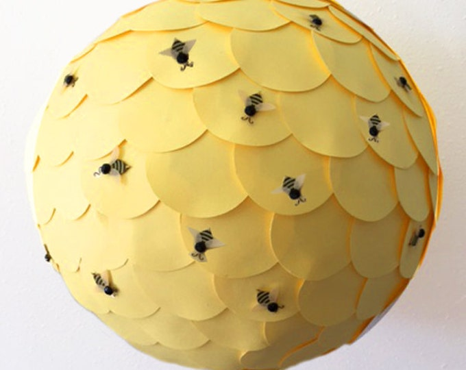 What Will It Bee Gender Reveal Piñata, Bee Theme Gender Reveal Party Decor, What Will Baby Bee? Gender Reveal Ideas Pink and Blue Confetti