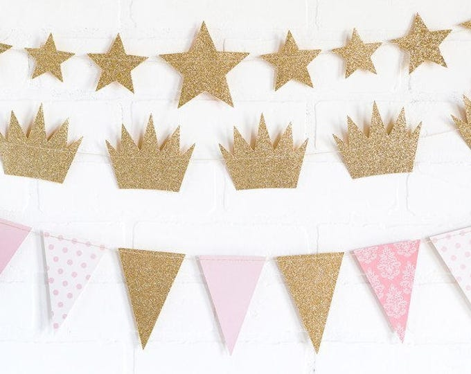 Twinkle Twinkle Little Star Banner, Metallic Gold Star Banner, First birthday banner, Star Garland,  Baby Shower Twinkle Twinkle Little Star