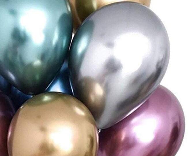 Silver Chrome Balloon Bouquet, Metallic Silver Grey Wedding, Gold Holiday, Party Decorations Backdrop Graduation, Birthday Party Decor Gray
