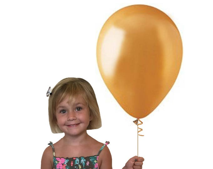 "Gold Balloons Latex, 17"" Balloons, Gold Balloons, Gold Party Decorations, White 17"" Balloon, Gold 17"" Balloon, Gold Birthday Decor SALE"