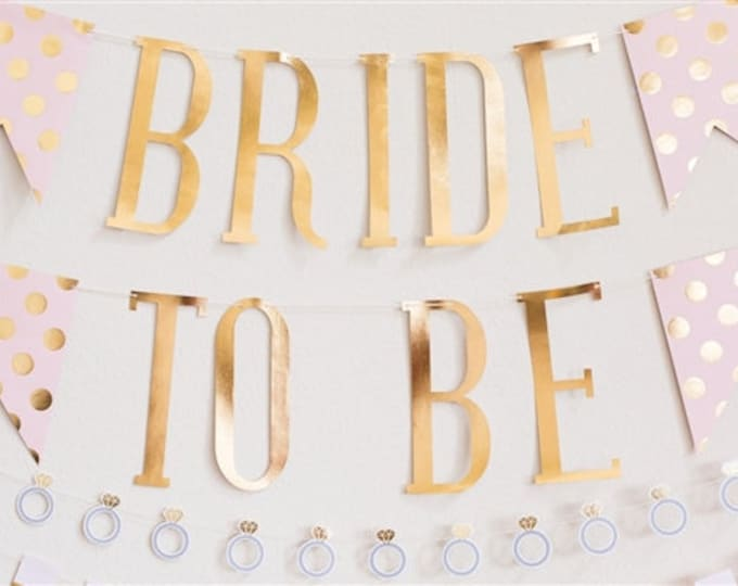Bride to Be Banner, Bachelorette Party Decor Ideas, Pink and Gold Bridal Shower Decorations, Party Decorations Bridal Party, Wedding party