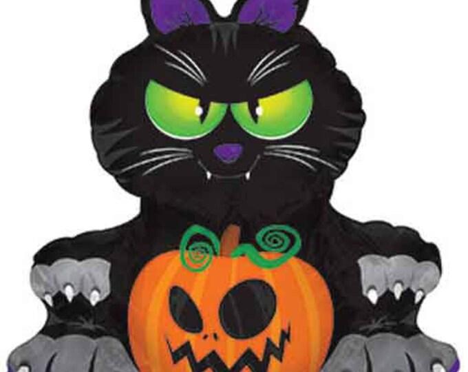 Black Cat Balloon, Halloween Balloon, Halloween Decorations, Halloween Party, Halloween Party Decorations, Cat Balloon